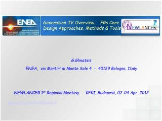 Generation-IV Overview.	 FRs Core   Design Approaches, Methods & Tools