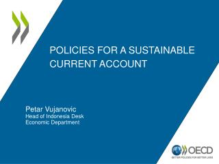 Policies for a sustainable current account