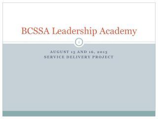BCSSA Leadership Academy