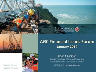 AGC Financial Issues Forum January 2014