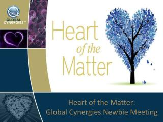 Heart of the Matter: Global Cynergies Newbie Meeting