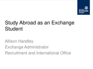 Study Abroad as an Exchange Student