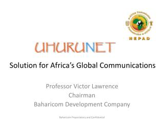 Solution for Africa�s Global Communications
