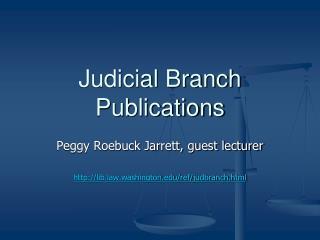 Judicial Branch Publications