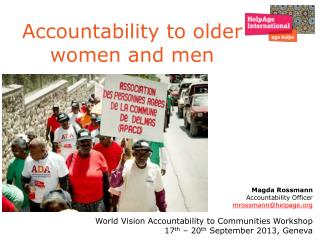 Accountability to older women and men
