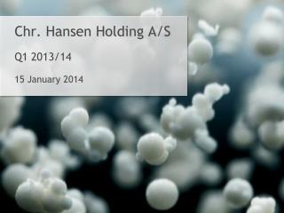 Chr. Hansen Holding A/S Q1 2013/14 15  January 2014