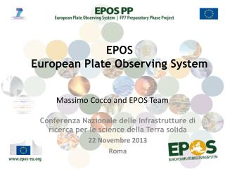 Massimo Cocco and EPOS Team