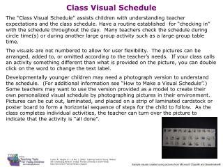 File C   Classroom Visual Schedule