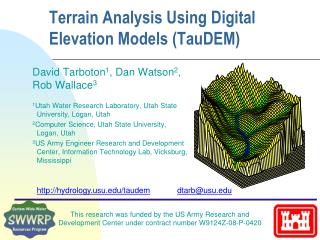 Terrain Analysis Using Digital Elevation Models ( TauDEM )