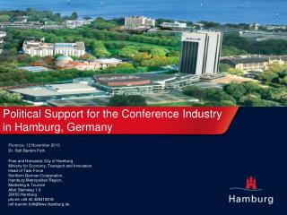 Political Support  for the  Conference  Industry in Hamburg, Germany