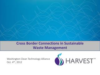 Cross Border Connections in Sustainable Waste Management