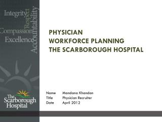 Physician Workforce Planning The Scarborough Hospital