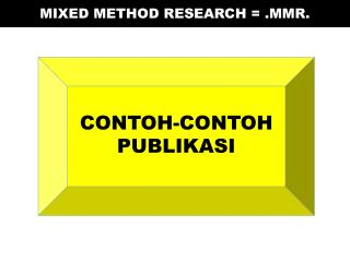 MIXED METHOD RESEARCH = .MMR .