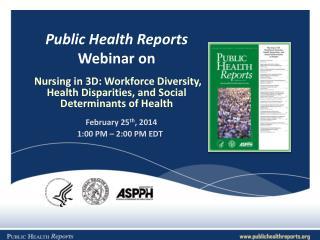 Public Health Reports  Webinar on