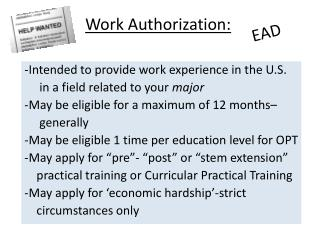 Work Authorization: