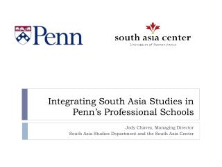 Integrating South Asia Studies in Penn's Professional Schools