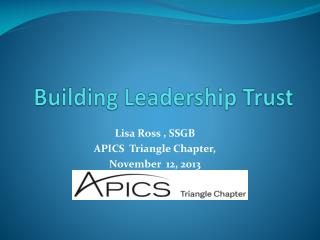 Building Leadership Trust