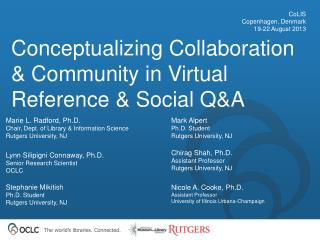 Conceptualizing Collaboration & Community in Virtual Reference & Social Q&A