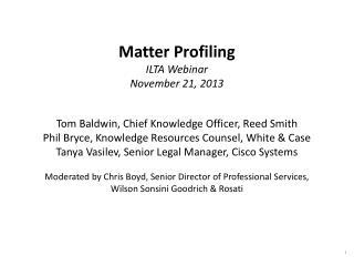"Definition of ""Matter Profiling"""