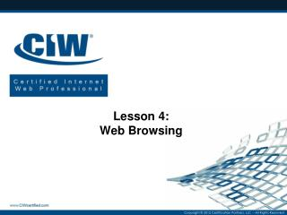 Lesson 4: Web Browsing