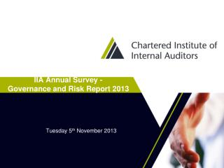 IIA Annual Survey - Governance and Risk Report 2013