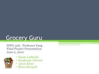 Grocery Guru