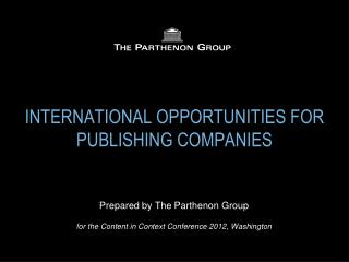 INTERNATIONAL  OPPORTUNITIES  FOR PUBLISHING COMPANIES