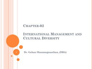 Chapter-02 International Management and Cultural Diversity