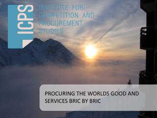PROCURING THE WORLDS GOOD AND SERVICES BRIC BY BRIC