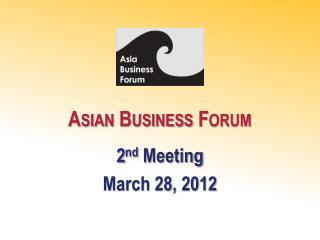 Asian Business Forum