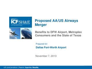Proposed AA/US Airways Merger