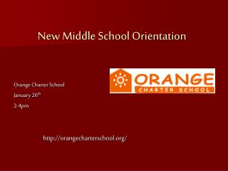 New Middle School Orientation