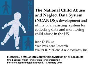 The National Child Abuse and Neglect Data System NCANDS ...