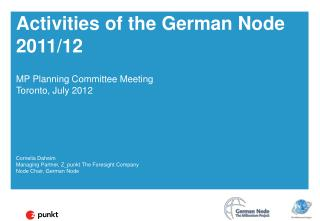 Activities of the German Node 2011/12
