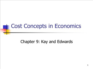 Cost Concepts in Economics