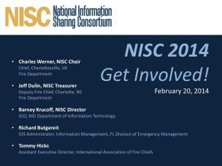 NISC 2014 Get Involved! February 20, 2014