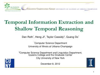 Temporal Information Extraction and  Shallow Temporal Reasoning