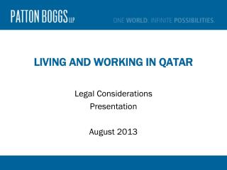 Living and Working in Qatar