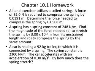 Chapter 10.1 Homework
