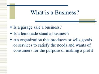 What is a Business?