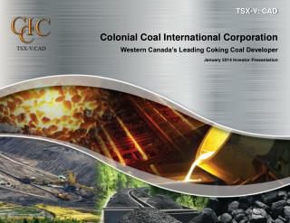 Colonial Coal International Corporation