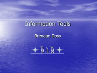 Information Tools - ..