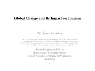 Global Change and Its Impact on Tourism