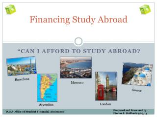 Financing Study Abroad