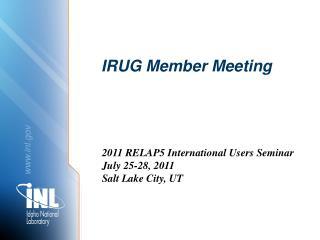 IRUG Member Meeting