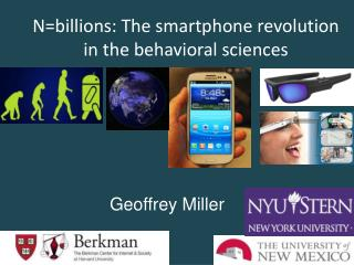 N=billions: The smartphone revolution in the behavioral  sciences