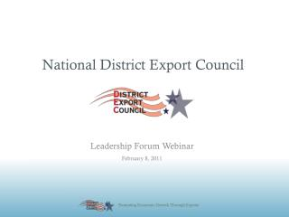 National District Export Council