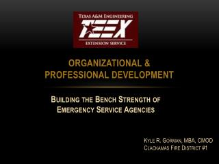 Organizational &  Professional Development