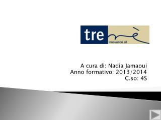 A cura di: Nadia  Jamaoui Anno formativo: 2013/2014 C.so: 4S