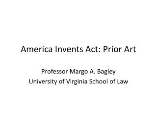 America Invents Act: Prior Art